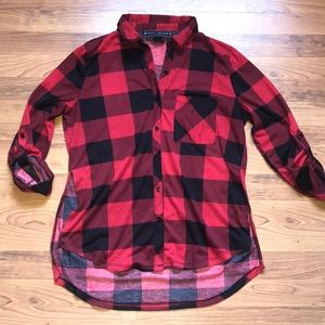 Poly & Esther Buffalo plaid top